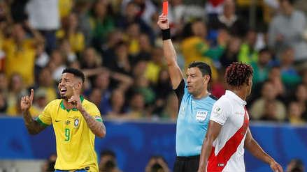 ¡Brasil se quedó con 10! Gabriel Jesús fue expulsado de la final de la Copa América