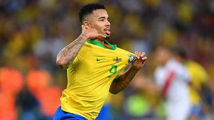 ¡Aprovechó resbalones! Gabriel Jesus marcó el segundo gol de Brasil en la final de la Copa América