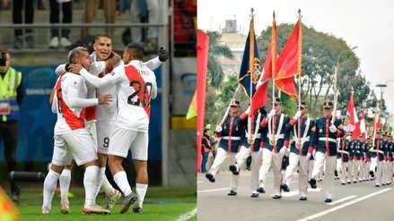 Perú vs. Brasil   Batallón Fanning sorprende en un desfile con tema de aliento a la Blanquirroja [VIDEO]