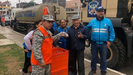 Marina de Guerra distribuye agua en cisternas y bolsas ante corte de servicio de Sedapal