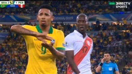 El polémico gesto de Gabriel Jesús tras ser expulsado en la final de la Copa América 2019