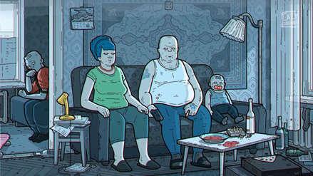 Versión rusa de Los Simpson se vuelve viral debido a lo cruda y deprimente que es