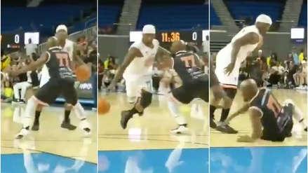 ¡Le rompieron los tobillos! Floyd Mayweather fue humillado en un partido de exhibición de básquet