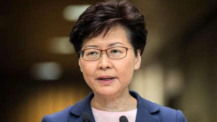La líder de Hong Kong anuncia la