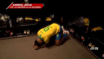 El desconsolado llanto de Gabriel Jesus tras ser expulsado en la final de la Copa América