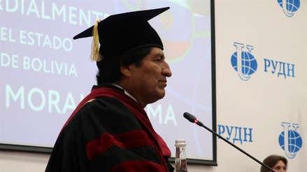 Evo Morales es investido doctor honoris causa por una universidad rusa
