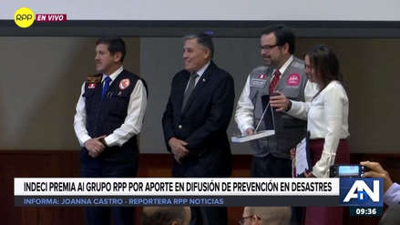 GRUPORPP fue premiado por Indeci por su aporte en la difusión de la prevención de desastres