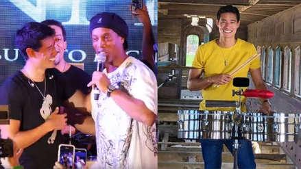 Ronaldinho Gaucho se rindió ante el talento del percusionista peruano Tony Succar [VIDEO]