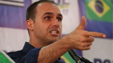 Hijo de Jair Bolsonaro dice que puede ser embajador en Estados Unidos: