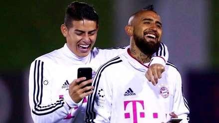 ¡Amigos desde el Bayern! Arturo Vidal saludó emotivamente a James Rodríguez por su cumpleaños