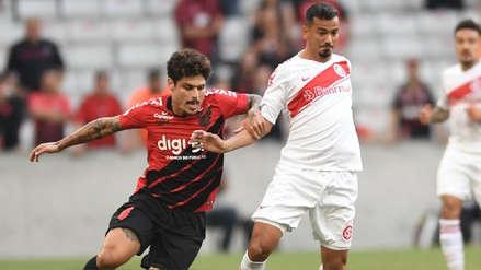 Sin Paolo Guerrero, Internacional cayó 1-0 ante Atlético Paranaense por el Brasileirao