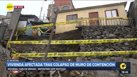 Una vivienda quedó inhabitable tras colapso de muro de contención en El Agustino