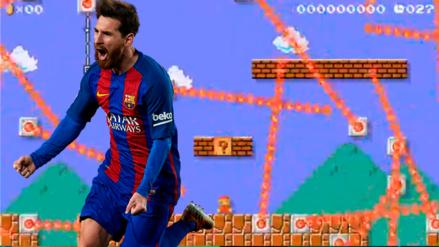 Mario Messi: Conoce este imposible nivel de Mario maker  narrado como un partido de fútbol