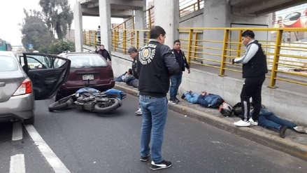 La Policía frustró asalto tras balacera y capturó a cinco ladrones en El Agustino