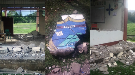 10 fotos de las terribles condiciones en que estudian alumnos en Chazuta tras el terremoto de Loreto