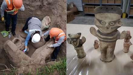 Hallan tumba preincaica de niño durante obras para tuberías de gas en Puente Piedra [FOTOS]