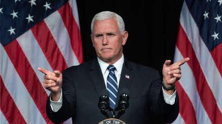 Mike Pence advirtió a Irán que sus esfuerzos a favor de Nicolás Maduro