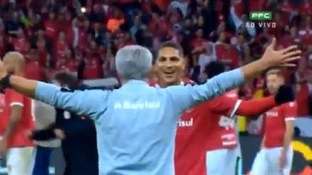 Paolo Guerrero y su especial celebración con el técnico del Inter de Porto Alegre | VIDEO
