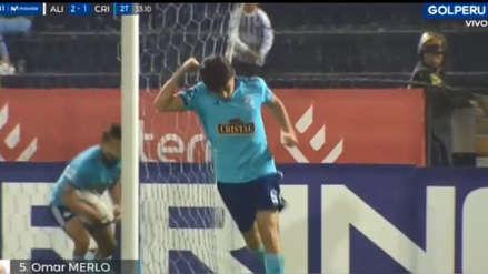 Alianza Lima vs. Sporting Cristal: defensa blanquiazul se 'durmió' y Omar Merlo marcó el gol del descuento