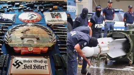 Un misil, fusiles y símbolos nazi: 9 fotos del insólito arsenal incautado a grupo de extrema derecha
