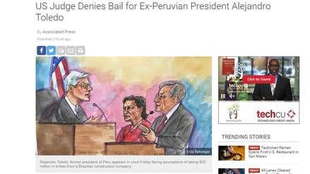 Así informó la prensa internacional sobre la negación a la fianza de Alejandro Toledo en EE.UU.