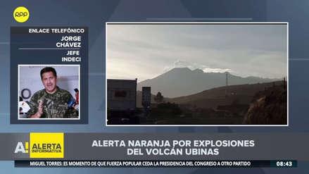Evacuarán a poblaciones cercanas al volcán Ubinas tras nuevas explosiones y aumento de cenizas