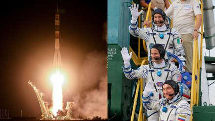 Este es el homenaje que la nave rusa Soyuz dio a la misión Apolo 11 durante su despegue al espacio