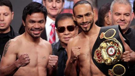 Manny Pacquiao vs.  Keith Thurman: ¿Quién es el favorito para las casas de apuestas en la lucha en Las Vegas?