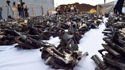 Más de 11,000 armas decomisadas a criminales fueron destruidas para evitar que vuelvan a las calles [FOTOS]
