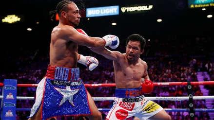 ¡Sigue intacto! Manny Pacquiao venció a Keith Thurman por decisión dividida en Las Vegas