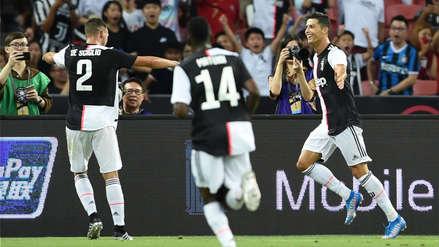 ¡Regresó el goleador! Cristiano Ronaldo marcó un gol en el debut de Juventus en la International Champions Cup