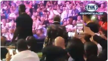 ¡Espectador de lujo! Floyd Mayweather estuvo presente en la pelea entre Pacquiao vs. Thurman por peso wélter de la AMB
