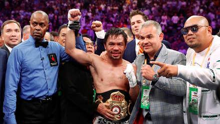 ¡Leyenda! A los 40 años, Manny Pacquiao le quitó el invicto a  Thurman y se quedó con el título unificado peso wélter de la AMB