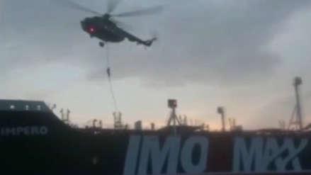Tensión en Medio Oriente: Irán difunde video de la detención de petrolero británico en el estrecho de Ormuz