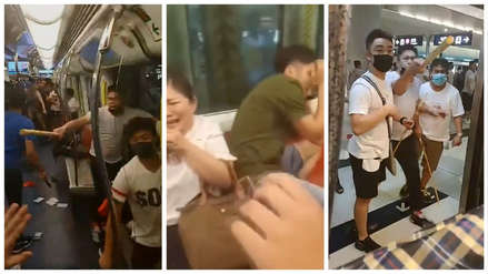 Tensión en Hong Kong: Video muestra cruel ataque de enmascarados a manifestantes en una estación del metro