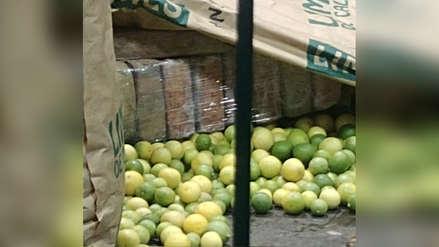 Hallan más de 423 kilos de droga oculta en sacos de limones en el Mercado Mayorista de Santa Anita