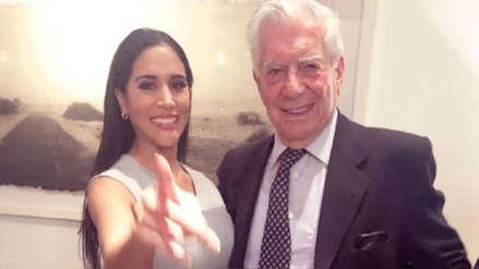 Melissa Paredes emocionada por la visita de Mario Vargas Llosa al teatro: