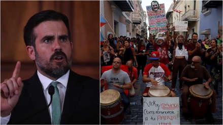 Gobernador de Puerto Rico descarta renunciar por crisis política y manifestantes piden su dimisión