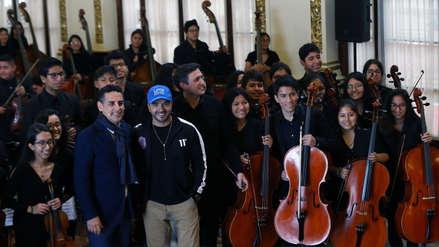 Luis Fonsi y Juan Diego Flórez se reunieron con Sinfonía por el Perú días antes de inaugurar los Juegos Panamericanos