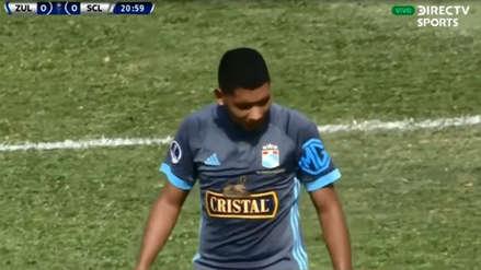¡Rozó el palo! La individualidad de Cristian Palacios que por poco termina en gol de Sporting Cristal