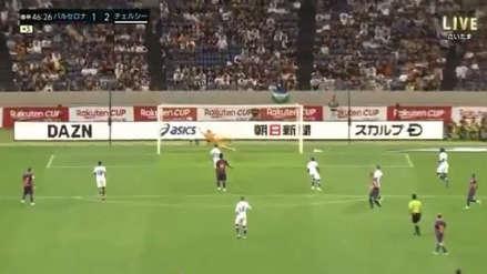 ¡La clavó en el ángulo! Ivan Rakitic anotó el gol del descuento de Barcelona en derrota ante Chelsea