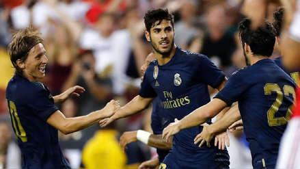 ¡Puso el empate! Marco Asensio marcó el segundo gol de Real Madrid ante Arsenal