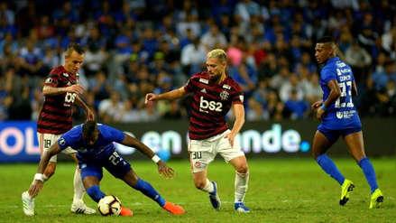Emelec venció 2-0 a Flamengo en partido de ida por los octavos de final de la Copa Libertadores 2019