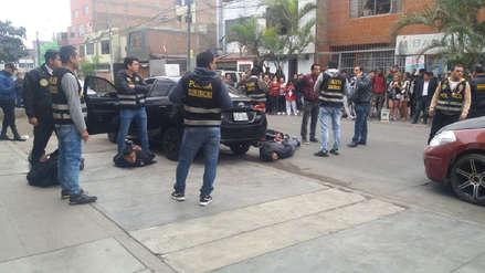 Policía frustró asalto a cambista y capturó a 4 delincuentes en Los Olivos