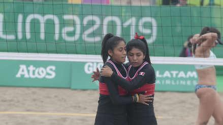 20 fotos del triunfo de la Selección Peruana de Voleibol Playa femenino ante El Salvador en los Juegos Panamericanos