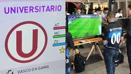 Universitario apareció en la presentación de eFootball PES 2020 en Brasil