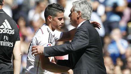 Carlo Ancelotti se volvió a referir a James Rodríguez: