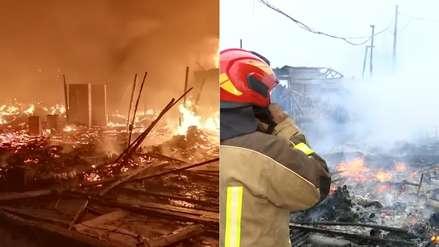 Reducidas a cenizas: así quedaron las viviendas tras enorme incendio en el Callao [VIDEO]