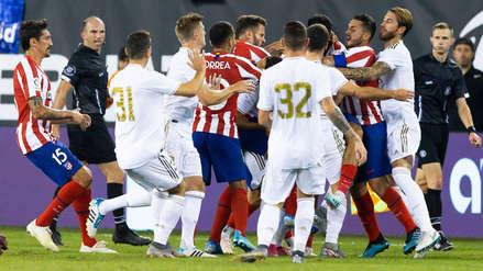¡Se fueron a las manos! La caliente pelea en el Real Madrid vs. Atlético de Madrid