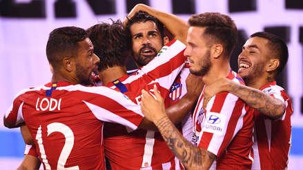 ¡Sombrerito! Diego Costa marcó el sexto gol de Atlético de Madrid en la goleada ante Real Madrid